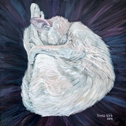 (CreativeWork) Serenity by Donna Gibb. oil-painting. Shop online at Bluethumb.