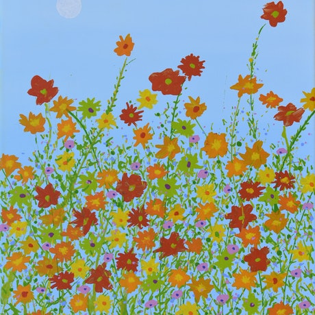 (CreativeWork) Spring  830 by Ernie Gerzabek. Acrylic Paint. Shop online at Bluethumb.