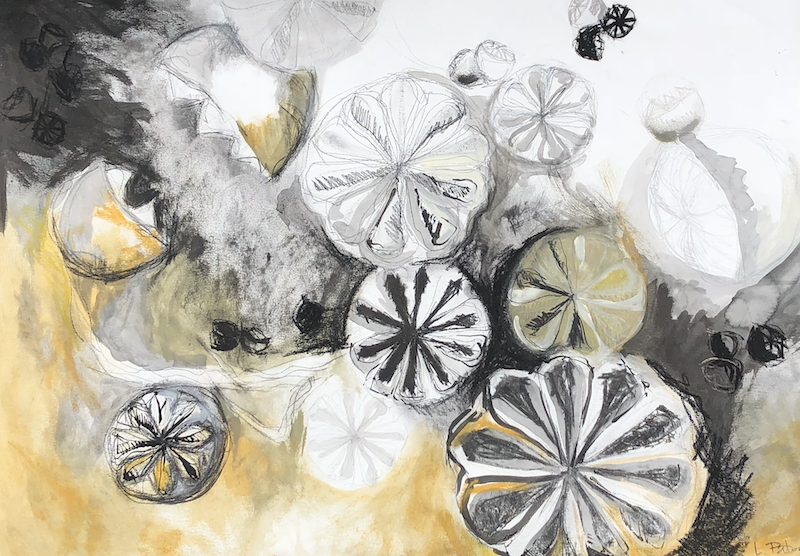 (CreativeWork) Leptospermum Cones by Lydie Paton. mixed-media. Shop online at Bluethumb.