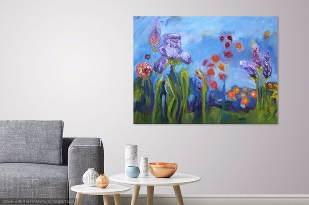 (CreativeWork) IT'S SPRINGTIME AND DON'T THE FLOWERS KNOW IT by Maureen Finck. Oil Paint. Shop online at Bluethumb.