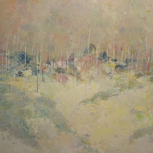 (CreativeWork) Bushland by John Graham. oil-painting. Shop online at Bluethumb.