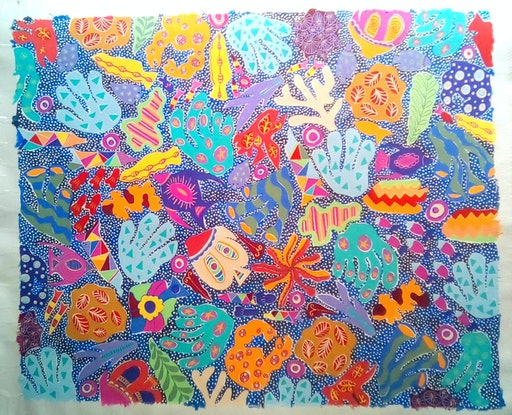(CreativeWork) Paradise Reef/1 by Karen Lee. #<Filter:0x00007fef41bc12a8>. Shop online at Bluethumb.