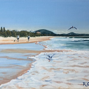 (CreativeWork) Mount Coolum Beach View - NOW WITH READY MADE FRAME by Robyn Gray. arcylic-painting. Shop online at Bluethumb.