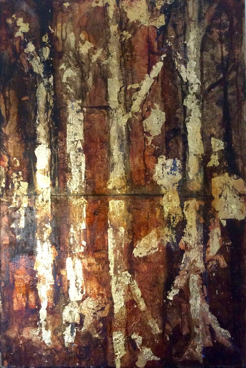 (CreativeWork) Truth, Like Gold (Conceptual) 61x92x3 Canvas by Louise Croese. mixed-media. Shop online at Bluethumb.