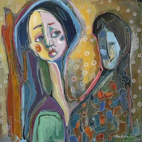 (CreativeWork) Women by Anetta Dobrakowska. Acrylic Paint. Shop online at Bluethumb.