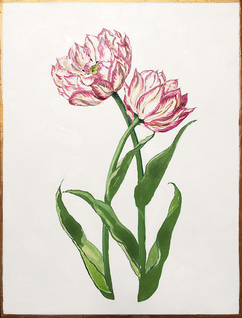 (CreativeWork) Posh Botanicals No.1 by Donna Christie. oil-painting. Shop online at Bluethumb.