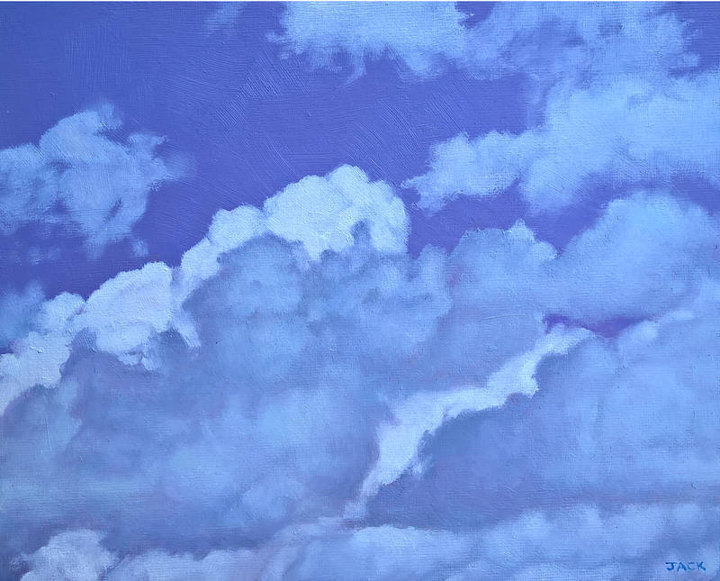 (CreativeWork) Adelaide Sky 2 by Jacqueline Briner. oil-painting. Shop online at Bluethumb.
