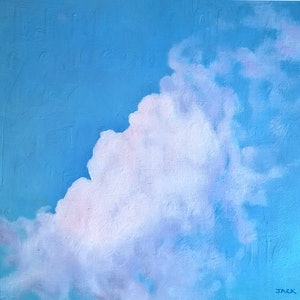 (CreativeWork) Adelaide Sky 3 by Jacqueline Briner. oil-painting. Shop online at Bluethumb.