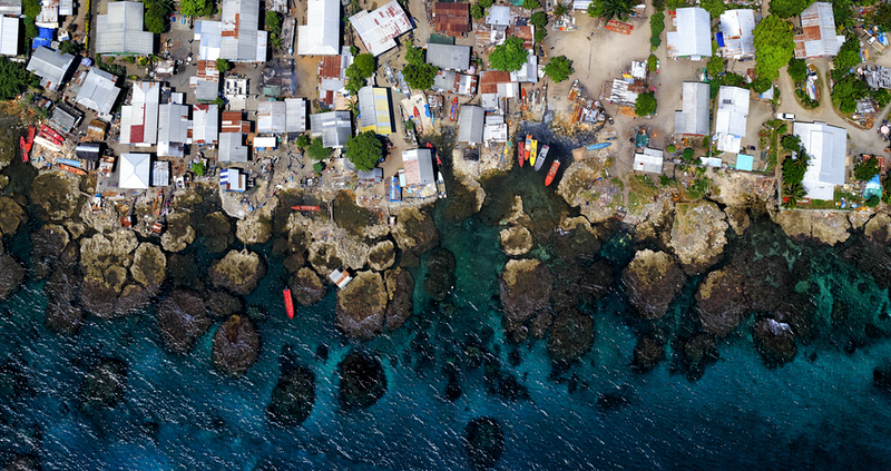 (CreativeWork) Fishing village by Stuart Chape. photograph. Shop online at Bluethumb.