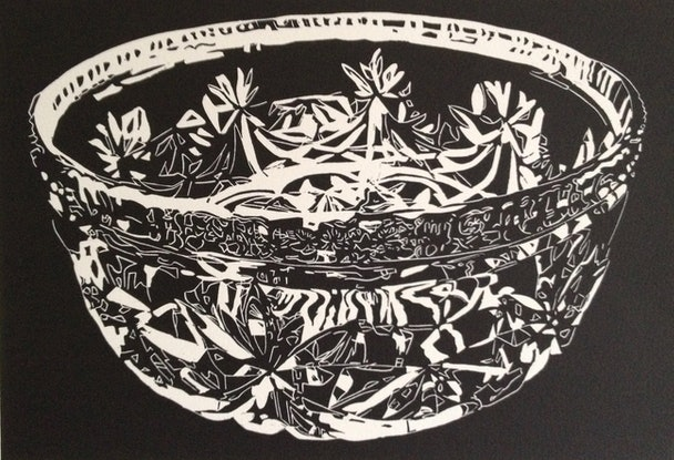 (CreativeWork) Kitchenalia 1020 (Nan's Crystal bowl) Ed. 5 of 15 by Sharron Okines. Print. Shop online at Bluethumb.