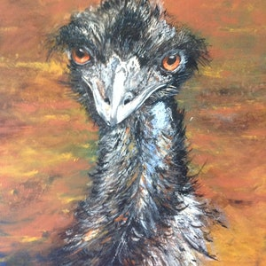 (CreativeWork) EMU STANCE by Frilly Bumstead. mixed-media. Shop online at Bluethumb.