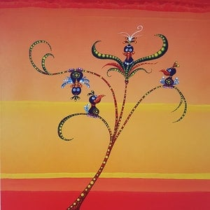 (CreativeWork) Wendy's Time to Shine by Rainer Kozik. arcylic-painting. Shop online at Bluethumb.