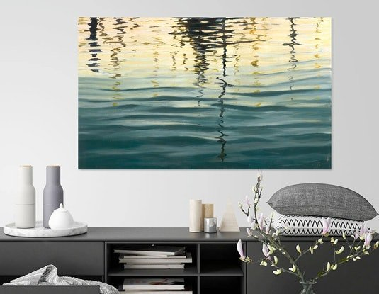 (CreativeWork) Evening Reflections 5 by Abramo Papp. Oil Paint. Shop online at Bluethumb.