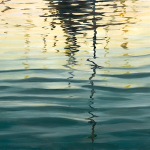 (CreativeWork) Evening Reflections 5 by Abramo Papp. oil-painting. Shop online at Bluethumb.