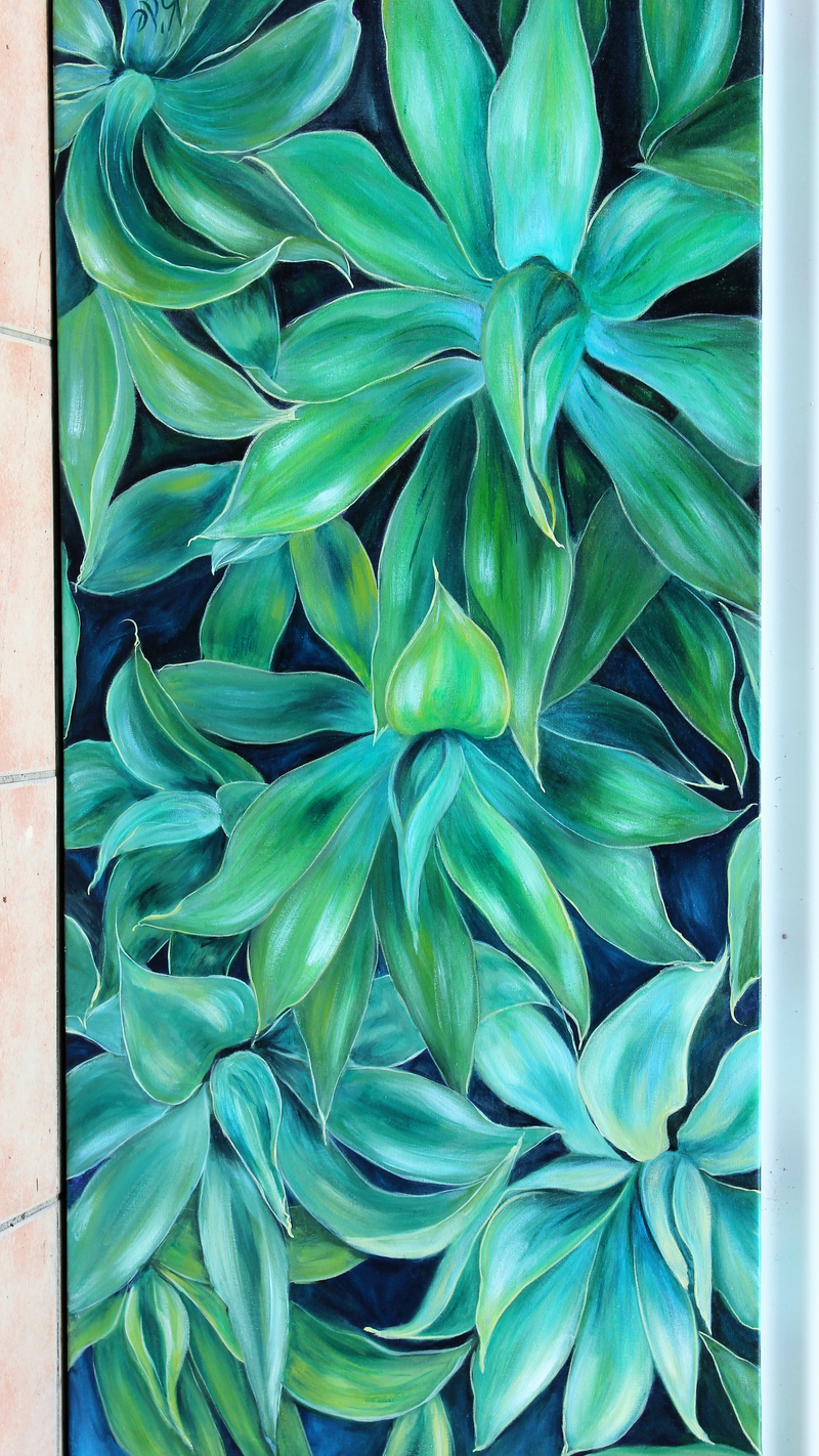 (CreativeWork) Agave Mass by Kathryn deBoer Ipsen. arcylic-painting. Shop online at Bluethumb.