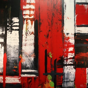(CreativeWork) Inner Mondrian II by Hilly Coufreur. arcylic-painting. Shop online at Bluethumb.