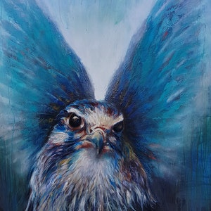 (CreativeWork) Ladyhawke by Rachel South. oil-painting. Shop online at Bluethumb.