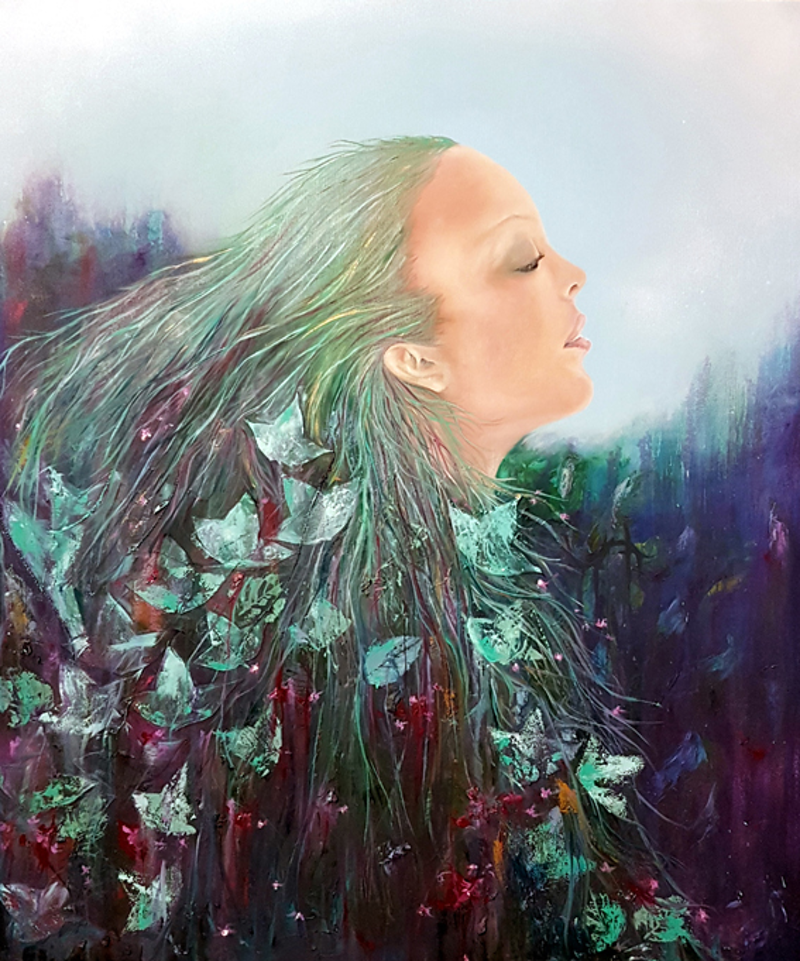 (CreativeWork) Mother Nature by Rachel South. oil-painting. Shop online at Bluethumb.