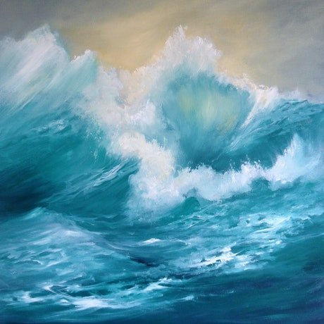 (CreativeWork) Allegro by Kathryn Johnston. Oil Paint. Shop online at Bluethumb.