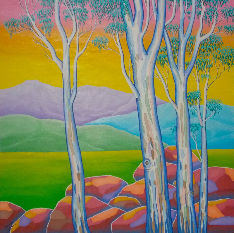 (CreativeWork) POLYCHROME EUCALYPTI 10 by Saadah Kent. #<Filter:0x000055b52685ef68>. Shop online at Bluethumb.