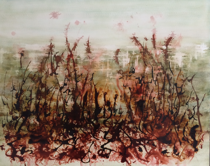 (CreativeWork) Wild Russet by april white. mixed-media. Shop online at Bluethumb.