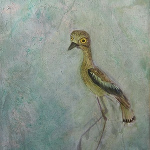 (CreativeWork) Curlew by Helena Cornelius. mixed-media. Shop online at Bluethumb.