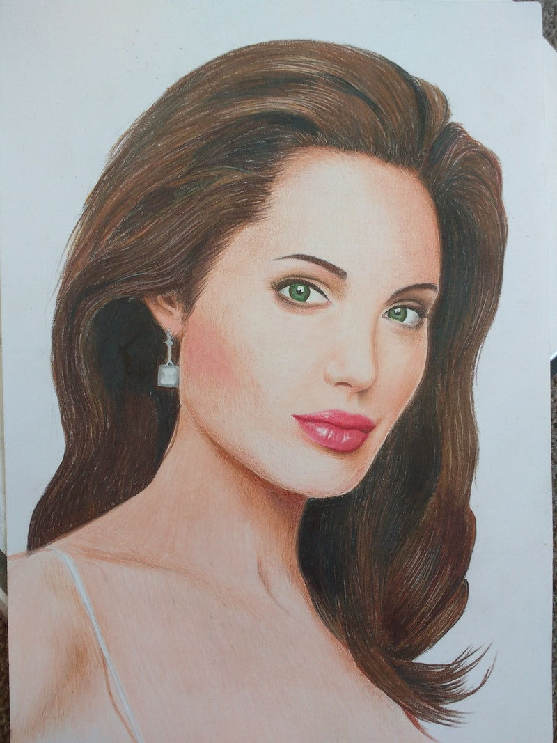 Shop online at creativework angelina jolie by kateryna cheban other media shop online at