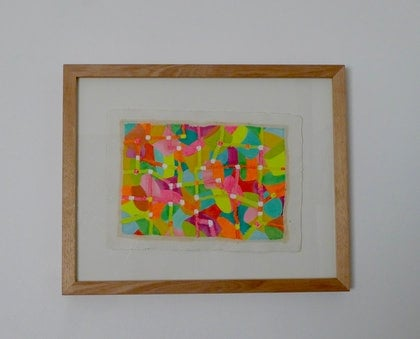 (CreativeWork) Network II by Catherine Hickson. mixed-media. Shop online at Bluethumb.