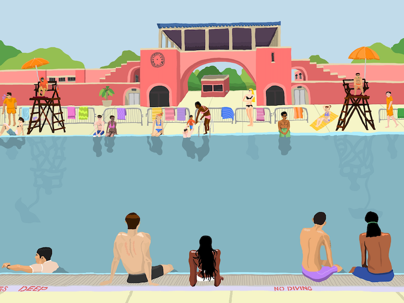 (CreativeWork) McCarren Park Pool Ed. 1 of 5 by Cloglot Storytelling. print. Shop online at Bluethumb.