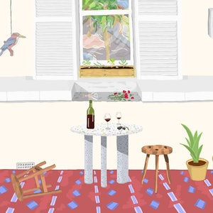 (CreativeWork) Front Porch with Wine During Minor Disagreement Ed. 2 of 5 by Cloglot Storytelling. print. Shop online at Bluethumb.