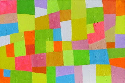 (CreativeWork) Colour of Summer by Catherine Hickson. arcylic-painting. Shop online at Bluethumb.