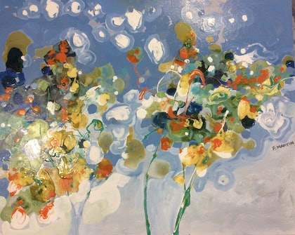 (CreativeWork) Spring by Frank Martin. oil-painting. Shop online at Bluethumb.