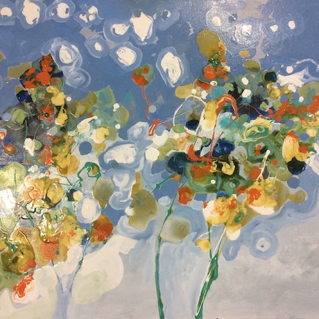 (CreativeWork) Spring by Frank Martin. Oil. Shop online at Bluethumb.