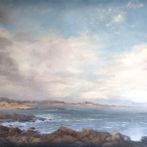 (CreativeWork) Summer Morning at Black Rock, Towards Barwon Heads by Annabelle Mannings. #<Filter:0x00005562365dd250>. Shop online at Bluethumb.