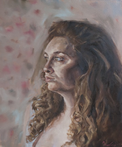(CreativeWork) Jacqueline by Annabelle Mannings. oil-painting. Shop online at Bluethumb.