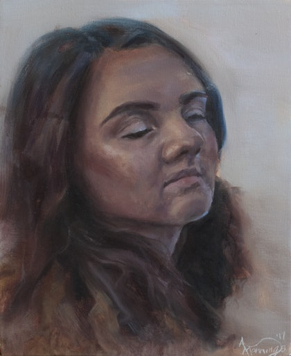 (CreativeWork) Lydia by Annabelle Mannings. oil-painting. Shop online at Bluethumb.