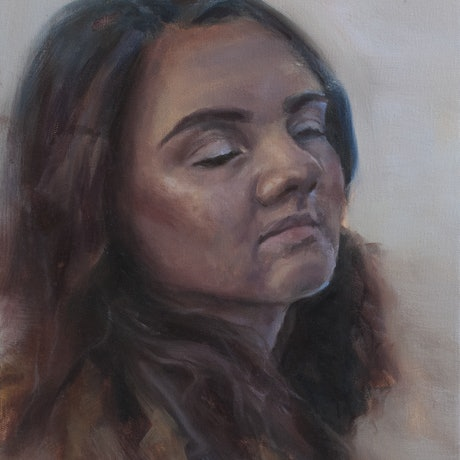 (CreativeWork) Lydia by Annabelle Mannings. Oil Paint. Shop online at Bluethumb.