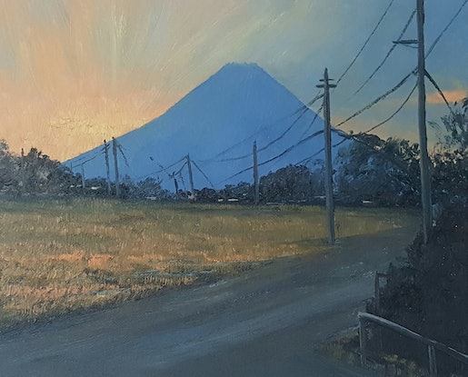 (CreativeWork) Late Day, Gotemba Japan. by Tez Dower. Oil. Shop online at Bluethumb.