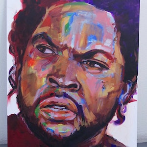 (CreativeWork) Ice Cube  by Jose Marcote. Acrylic Paint. Shop online at Bluethumb.