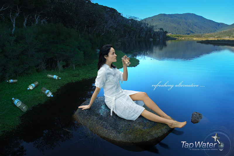 (CreativeWork) GOING GREEN: Tap water by Charmaine Hardy. photograph. Shop online at Bluethumb.