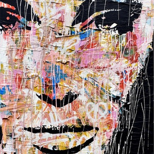 (CreativeWork) Something Goes Right by INDO The Artist. mixed-media. Shop online at Bluethumb.