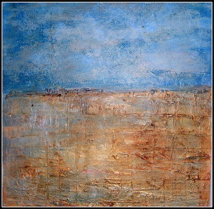 """(CreativeWork) """"Is that Water?"""" by linda bartlett. mixed-media. Shop online at Bluethumb."""