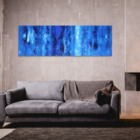 (CreativeWork) INTO THE DEEP by Mendo Vasilevski. Acrylic Paint. Shop online at Bluethumb.