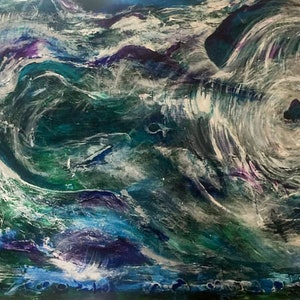 (CreativeWork) Extreeme Weather by Julie Stewart. arcylic-painting. Shop online at Bluethumb.