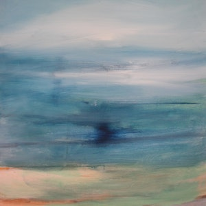 (CreativeWork) SUMMER  LANDSCAPE 8 by DEREK ERSKINE. oil-painting. Shop online at Bluethumb.