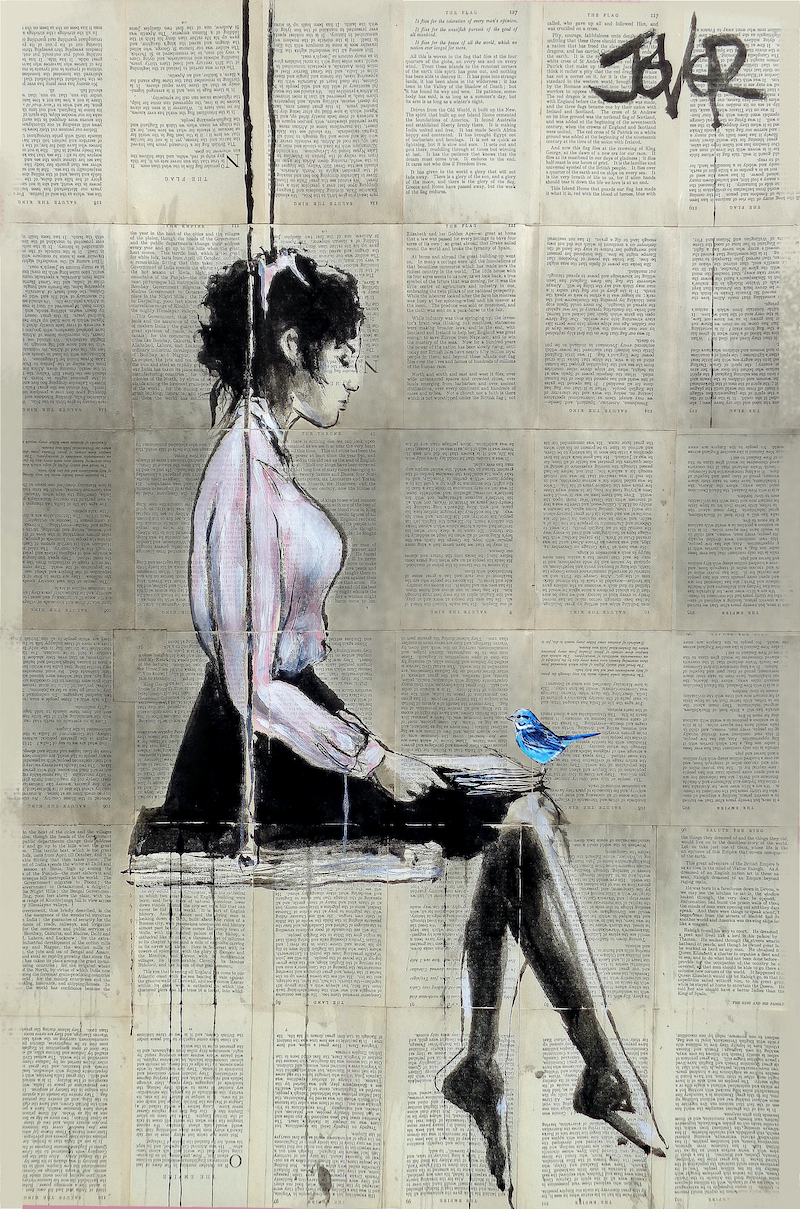 (CreativeWork) MOMENTS IN QUIET by loui jover. drawing. Shop online at Bluethumb.
