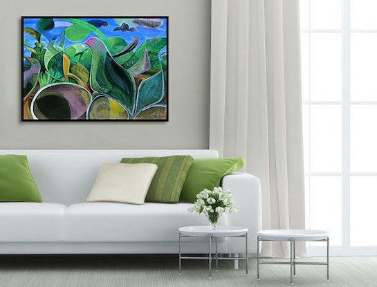 (CreativeWork) Bird Listening to the Sky by _ Tillian _. Acrylic Paint. Shop online at Bluethumb.