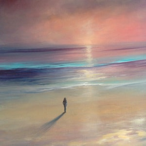 (CreativeWork) On the edge by Kathryn Johnston. oil-painting. Shop online at Bluethumb.