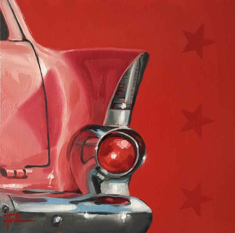 (CreativeWork) STAR III feat. 1961 EK Holden Station Sedan by Rosa Fedele. oil-painting. Shop online at Bluethumb.
