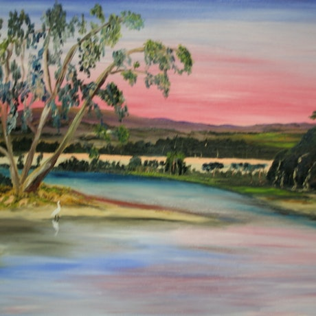 (CreativeWork) OUTBACK STREAM by Ralph Coles. Oil Paint. Shop online at Bluethumb.